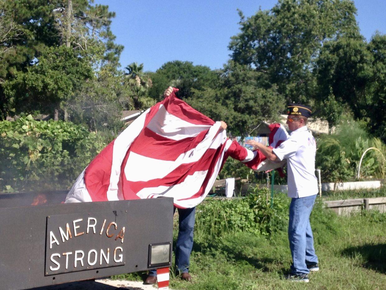 american-legion-holds-flag-retirement-ceremony