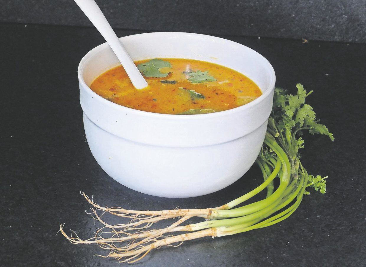 3-soups-from-1:-thai-stock-a-versatile-way-to-use-up-cilantro